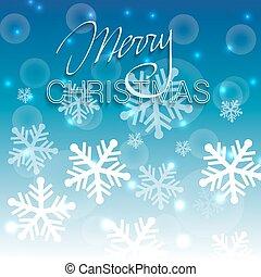 Christmas shiny blue background.