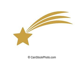 Christmas shooting star of Bethlehem icon.
