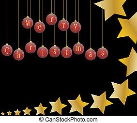 Christmas shooting stars background
