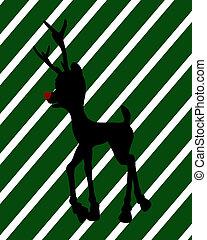 Christmas Shopping Silhouette Illustration