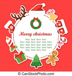 Christmas shower card with place for your text