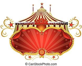 Christmas sign circus