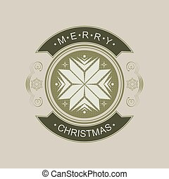 Christmas sign with a silhouette of snowflakes.