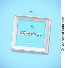Christmas sign with picture frame.