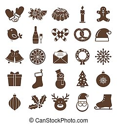 christmas silhouettes icons