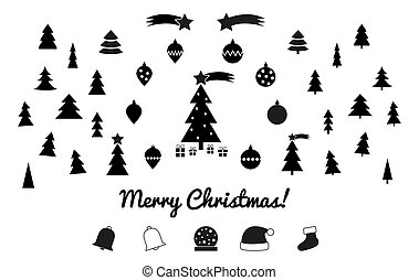 Christmas silhouettes - icons