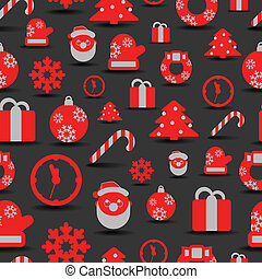 Christmas silhouettes seamless background