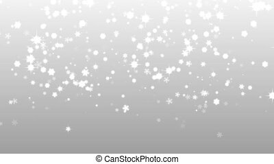 Christmas silver background snow