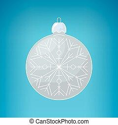 Christmas Silver Ball with Snowflake