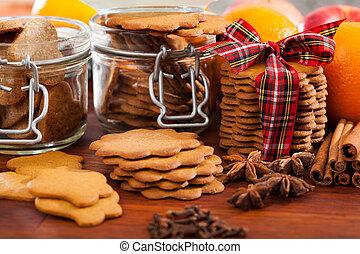 Christmas snacks on a table