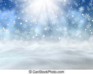 Christmas snow background - Christmas background of snow and...