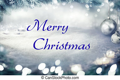 Christmas snow background or frame