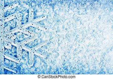 Christmas snow background, snowflake border - Christmas...