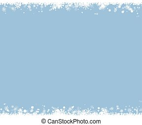 Christmas snow border. Snowflake vector background.