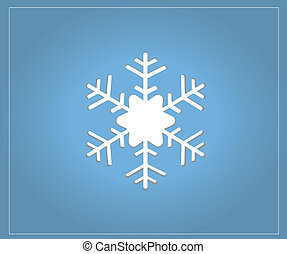 Christmas Snow Flake Blue Card vector graphic
