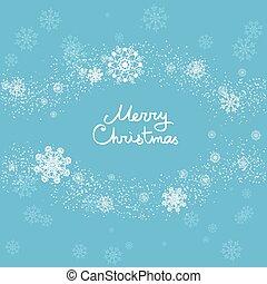 Christmas snow frame