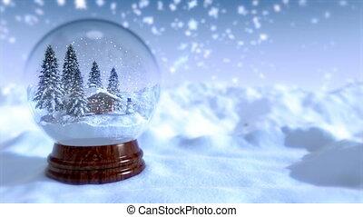 Christmas Snow Globe 4K