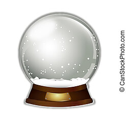 christmas snow globe over white background. vector...