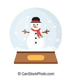 Christmas Snow Globe With funny Snowman