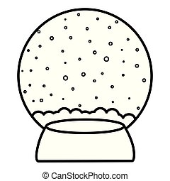 Christmas snowball icon over white background, vector...