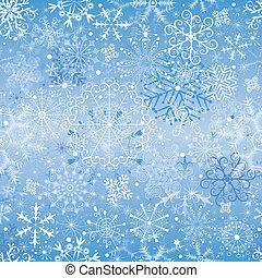 Christmas snowfall (seamless) - Christmas blue and silvery...