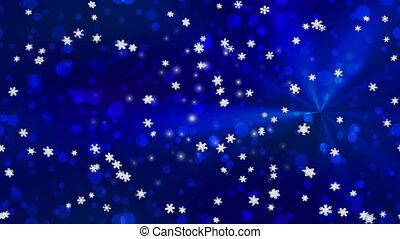 Christmas snowfall seamless loop 4K