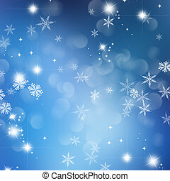 Christmas snowflake and stars background