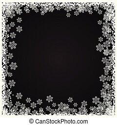 christmas snowflake border 1111
