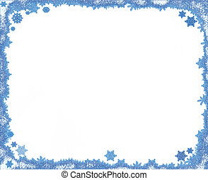 Christmas snowflake frame with copy space - Christmas...