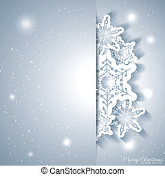 Christmas Snowflake Greeting Card