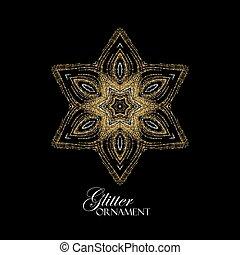 Christmas snowflake. Holiday decoration - Luxury festive...