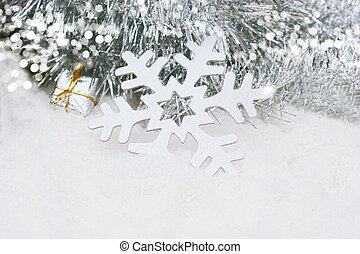 Christmas Snowflake in snow