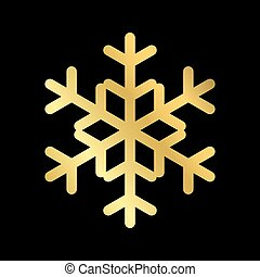 Christmas snowflake isolated illustration - Gold Christmas...