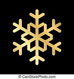 Christmas snowflake isolated illustration - Gold Christmas...