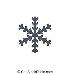 Christmas snowflake isolated illustration - Snowflake icon....