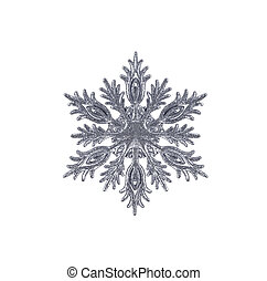 Christmas snowflake isolated on white background
