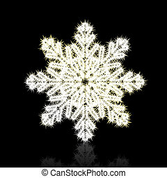 Christmas snowflake on black background