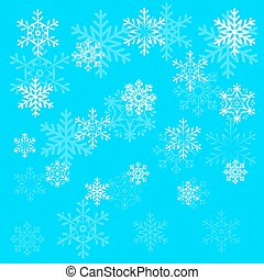 Christmas snowflake on blue sky background vector