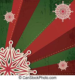 Christmas Snowflake on Retro Background