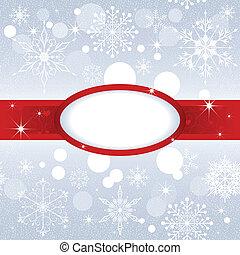Christmas snowflake on sliver color background