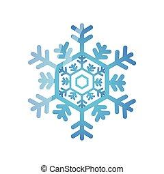 christmas snowflake on white background