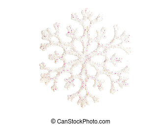 Christmas snowflake on white ground