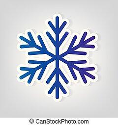 christmas snowflake tree icon- vector illustration