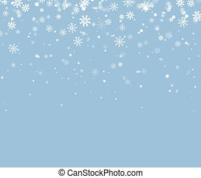 Christmas snowflake vector. Falling snow background.