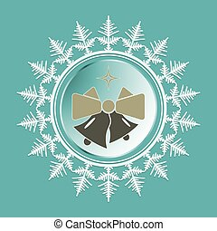 Christmas snowflake with bells inside