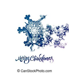Christmas snowflake with double exposure effect adding...