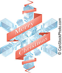 Christmas snowflake with ribbon