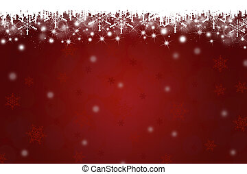 Christmas Snowflakes and Icicle on Red Background