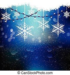 christmas snowflakes and lights 1210