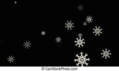 Christmas Snowflakes. Background.